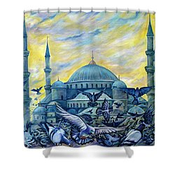 Turkey. Blue Mosque Shower Curtain