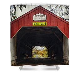 Uhlerstown Covered Bridge Iv Shower Curtain