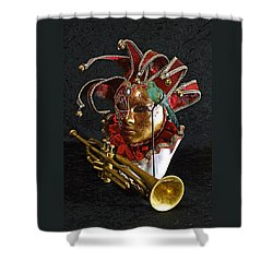 Venitian Joker Shower Curtain