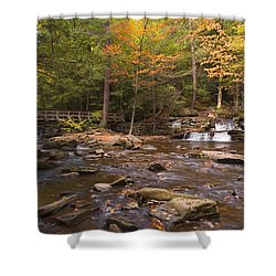 Watching The Waters Meet Shower Curtain by Gene Walls