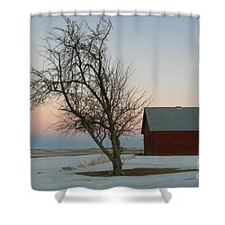 Winter In Rural America Shower Curtain