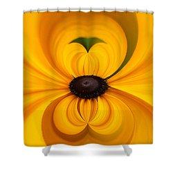 Yellow 3 Shower Curtain by Jouko Lehto