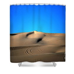 Yuma Dunes Number One Bright Blue And Tan Shower Curtain