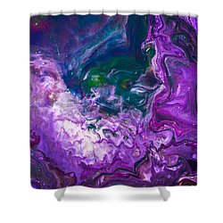 Zeus - Abstract Colorful Mixed Media Painting Shower Curtain