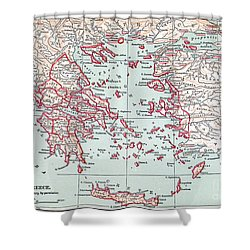 Map: Ancient Greece Shower Curtain by Granger