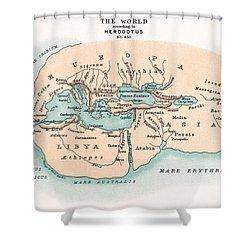 World Map Shower Curtain by Granger