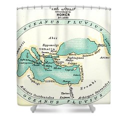 World Map, C1000 B.c Shower Curtain by Granger