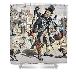 Prohibition  Cartoon, 1889 Shower Curtain by Granger