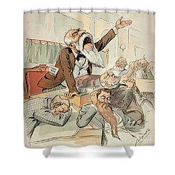 Senate Cartoon,free Silver Shower Curtain by Granger