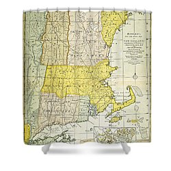 New England Map, C1775 Shower Curtain by Granger