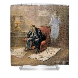 Stock Market Cartoon Shower Curtain by Granger