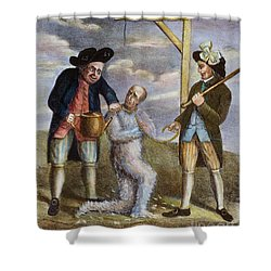Tarring & Feathering, 1774 Shower Curtain by Granger