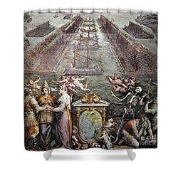 Battle Of Lepanto, 1571 Shower Curtain by Granger