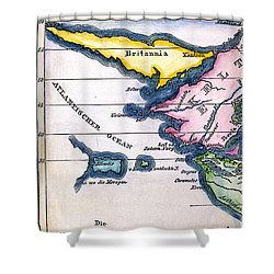 Atlantis: Map, 1831 Shower Curtain by Granger