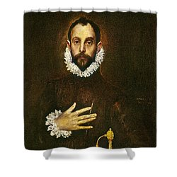 El Greco: Gentleman Shower Curtain by Granger