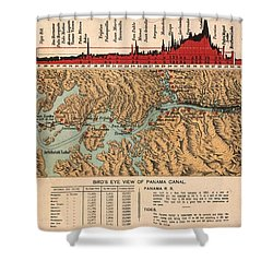 Card: Panama Canal, 1914 Shower Curtain by Granger