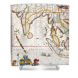 South Asia Map, 1662 Shower Curtain by Granger