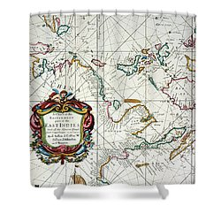 East Indies Map, 1670 Shower Curtain by Granger