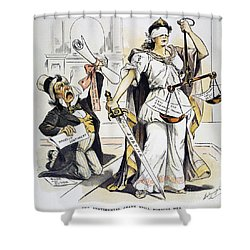 Justice Cartoon Shower Curtain by Granger