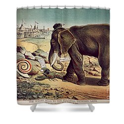 Office Seekers 1885 Shower Curtain by Granger