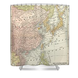 Map: East Asia, 1907 Shower Curtain by Granger