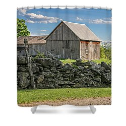 #0079 - Robert's Barn, New Hampshire Shower Curtain