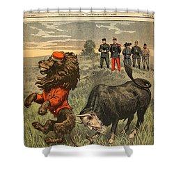 Boer War Cartoon, 1899 Shower Curtain by Granger