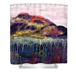 01252 Big Island Shower Curtain by AnneKarin Glass