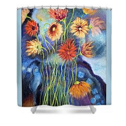 01314 African Daisies Shower Curtain