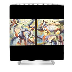 01315 Light Year Diptych Shower Curtain