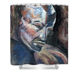 01323 Thinker Shower Curtain