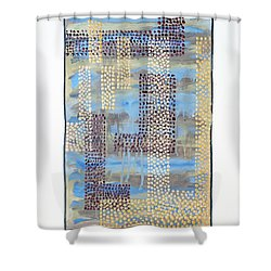 01334 Over Shower Curtain by AnneKarin Glass