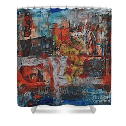 027 Abstract Thought Shower Curtain