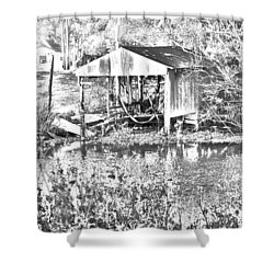 03192015 Boat Shed Lafourch Parish Shower Curtain