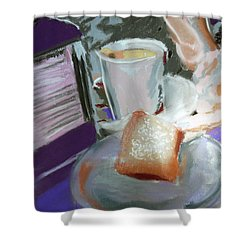 040517 Beni Gets And Coffee Shower Curtain