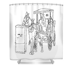 04061025 Horse And Buggy Shower Curtain
