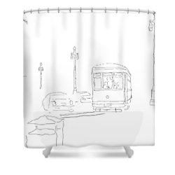 04062015b Turn Off Canal On To St Charles Shower Curtain