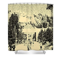 04252015 Mount Rush More Shower Curtain