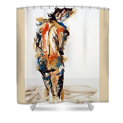04855 No Regrets Shower Curtain