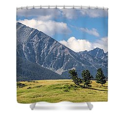#0491 - Spanish Peaks, Southwest Montana Shower Curtain