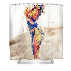 04997 Bird Call Shower Curtain by AnneKarin Glass
