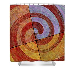 0581 Abstract Thought Shower Curtain