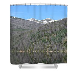 Chambers Lake Reflection Hwy 14 Co Shower Curtain