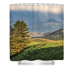 #0613 - Absaroka Range, Paradise Valley, Southwest Montana Shower Curtain