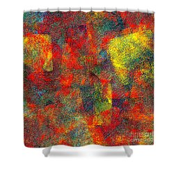 0786 Abstract Thought Shower Curtain