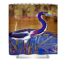 081315 Heron Shower Curtain