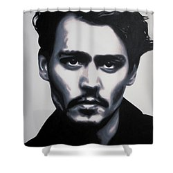 - Johnny - Shower Curtain by Luis Ludzska