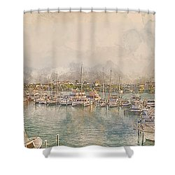 10879 Clearwater Marina Shower Curtain