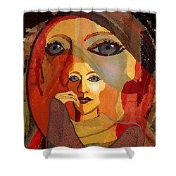 1636 - Quiet Observation 2017 Shower Curtain by Irmgard Schoendorf Welch