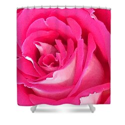Bara Means Rose Shower Curtain